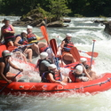 Employee rafting trip down the Ocoee